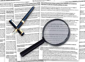 Notre avis sur le projet de Plan Urbain de Mobilité (PUM) dans le cadre de l'enquête publique.